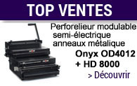Perforateur et relieuse professionnels modulables Onyx OD4012 et HD 8000