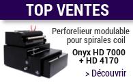 Perforateur et relieuse professionnels modulables Onyx HD 4170 et HD 7000